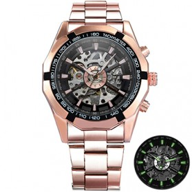 Forsining Jam Tangan Mechanical Luxury Pria - SLZ56 - Rose Gold/Black