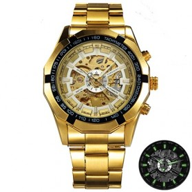 Forsining Jam Tangan Mechanical Luxury Pria - SLZ56 - Golden