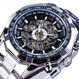 Forsining Jam Tangan Mechanical Luxury Pria - SLZ56 - Silver Black