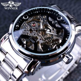 WINNER Jam Tangan Mechanical Luxury Pria - SLZa94 - Black