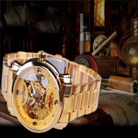 WINNER Jam Tangan Mechanical Luxury Pria - SLZa94 - Golden
