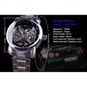 WINNER Jam Tangan Mechanical Luxury Pria - SLZa94 - Golden - 3