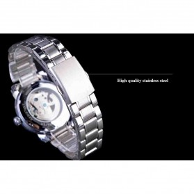 WINNER Jam Tangan Mechanical Luxury Pria - SLZa94 - Golden - 5