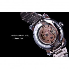 WINNER Jam Tangan Mechanical Luxury Pria - SLZa94 - Golden - 6