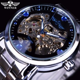 WINNER Jam Tangan Mechanical Luxury Pria - SLZa94 - Blue