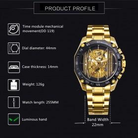 Forsining Jam Tangan Mechanical Luxury Pria - SLZe91 - Black - 2
