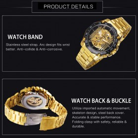 Forsining Jam Tangan Mechanical Luxury Pria - SLZe91 - Black - 4