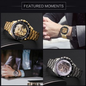 Forsining Jam Tangan Mechanical Luxury Pria - SLZe91 - Black - 5