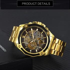 Forsining Jam Tangan Mechanical Luxury Pria - SLZe66 - Black Gold - 2