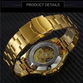 Forsining Jam Tangan Mechanical Luxury Pria - SLZe66 - Black Gold - 3
