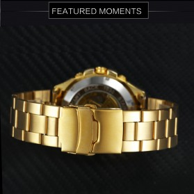 Forsining Jam Tangan Mechanical Luxury Pria - SLZe66 - Black Gold - 4