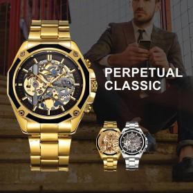 Forsining Jam Tangan Mechanical Luxury Pria - SLZe66 - Black Gold - 6