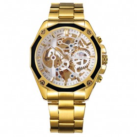 Forsining Jam Tangan Mechanical Luxury Pria - SLZe66 - Golden