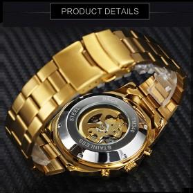 WINNER Jam Tangan Analog Mechanical Pria Skeleton - SLZe90 - Golden - 2