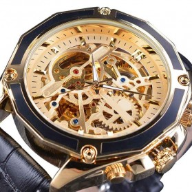Forsining Jam Tangan Mechanical Luxury Pria - SLZe100 - Black Gold