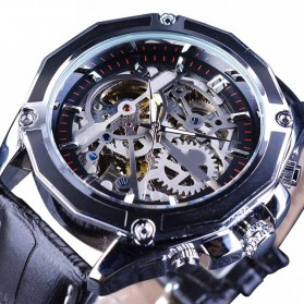 Forsining Jam Tangan Mechanical Luxury Pria - SLZe100 - Black/Silver