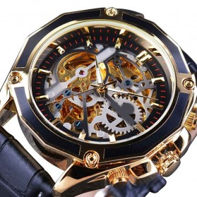 Forsining Jam Tangan Mechanical Luxury Pria - SLZe100 - Black/Black
