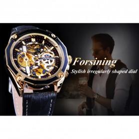 Forsining Jam Tangan Mechanical Luxury Pria - SLZe100 - Black/Black - 2