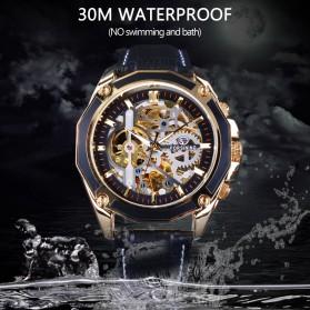 Forsining Jam Tangan Mechanical Luxury Pria - SLZe100 - Black/Black - 4