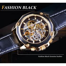 Forsining Jam Tangan Mechanical Luxury Pria - SLZe100 - Black/Black - 6