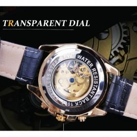 Forsining Jam Tangan Mechanical Luxury Pria - SLZe100 - Black/Black - 7