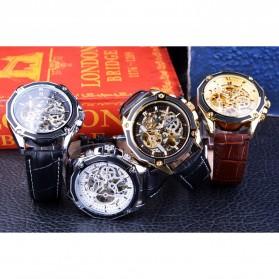 Forsining Jam Tangan Mechanical Luxury Pria - SLZe100 - Black/Black - 9