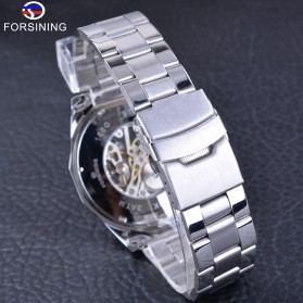Forsining Jam Tangan Mechanical Luxury Pria - SLZe126 - Silver Black - 6