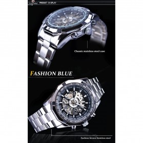 Forsining Jam Tangan Mechanical Luxury Pria - SLZe126 - Silver Black - 9