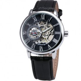 Watch Band - Forsining Jam Tangan Mechanical Luxury Pria - SLZa26 - Black/Silver