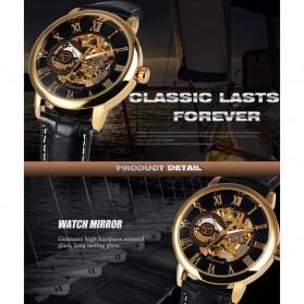 Forsining Jam Tangan Mechanical Luxury Pria - SLZa26 - Black/Silver - 2