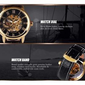 Forsining Jam Tangan Mechanical Luxury Pria - SLZa26 - Black/Silver - 3