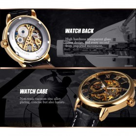 Forsining Jam Tangan Mechanical Luxury Pria - SLZa26 - Black/Silver - 4