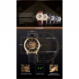 Forsining Jam Tangan Mechanical Luxury Pria - SLZa26 - Black/Silver - 5