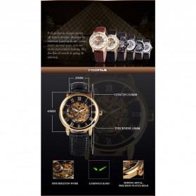 Forsining Jam Tangan Mechanical Luxury Pria - SLZa26 - Black - 5