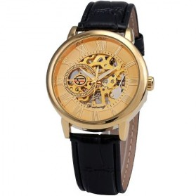 Forsining Jam Tangan Mechanical Luxury Pria - SLZa26 - Golden