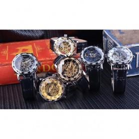 Winner Jam Tangan Mechanical Luxury Pria - GMT1089-1 - Black Gold - 10