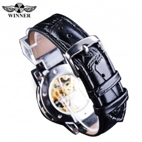 Winner Jam Tangan Mechanical Luxury Pria - GMT1089-1 - Black Gold - 3