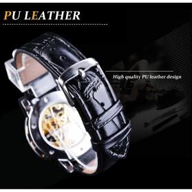 Winner Jam Tangan Mechanical Luxury Pria - GMT1089-1 - Black Gold - 4