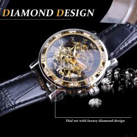 Winner Jam Tangan Mechanical Luxury Pria - GMT1089-1 - Black Gold - 5