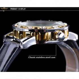 Winner Jam Tangan Mechanical Luxury Pria - GMT1089-1 - Black Gold - 9