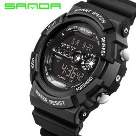 SANDA Jam Tangan Sporty Pria - SD-320 (backup) - Black