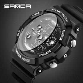 SANDA Jam Tangan Sporty Pria - SD-320 - Black - 4