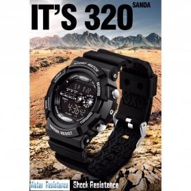 SANDA Jam Tangan Sporty Pria - SD-320 - Black - 6