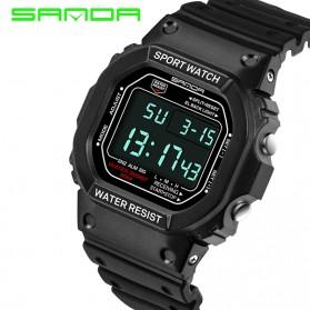 SANDA Jam Tangan Sporty Pria - SD-329 (backup) - Black