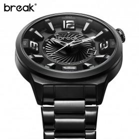 BREAK Jam Tangan Analog Luminous Stainless Steel Pria - 5109 - Black - 2