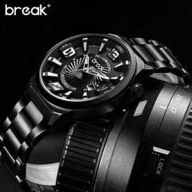 BREAK Jam Tangan Analog Luminous Stainless Steel Pria - 5109 - Black - 3