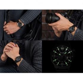 BREAK Jam Tangan Analog Luminous Stainless Steel Pria - 5109 - Black - 6