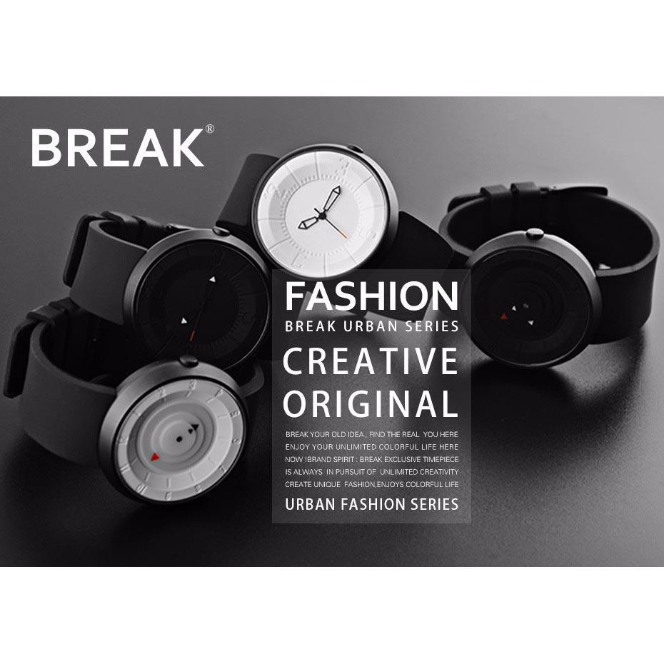 BREAK Jam Tangan Fashion Pria - B106 - Black - 9 ...