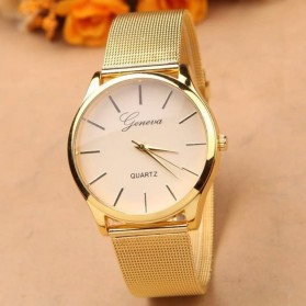 Geneva Jam Tangan Analog - YQ001GD - White/Gold