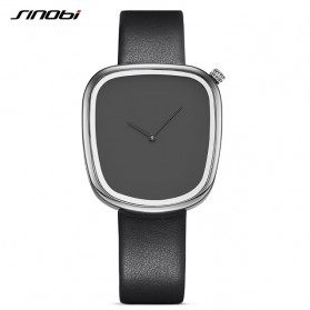SINOBI Jam Tangan Analog Wanita - 9705 - Black/Silver